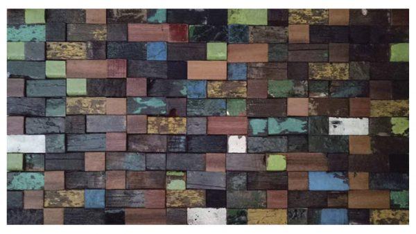 Dřevěná lodní mozaika - obkladová dlaždice 60 x 30 cm_model SHW 6245 1
